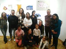 """Otvaranje izložbe """"Umetnost u pokretu: priča o jednom zidu"""", Papergirl Galerija Hub, Beograd, 2019."""