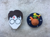 Harry Potter & the Little Prince brooches, 2019 (starchild's crafts)